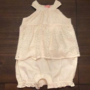 Cream baby romper - girls 12-18months